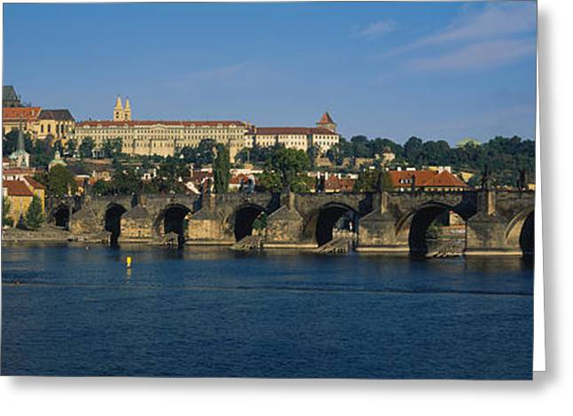 Bridge Across A River, Charles Bridge Greeting Card by Panoramic Images