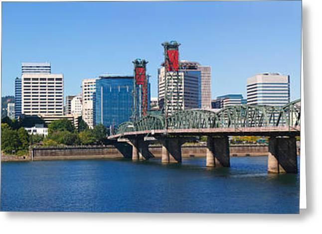 Bridge Across A River, Hawthorne Greeting Card