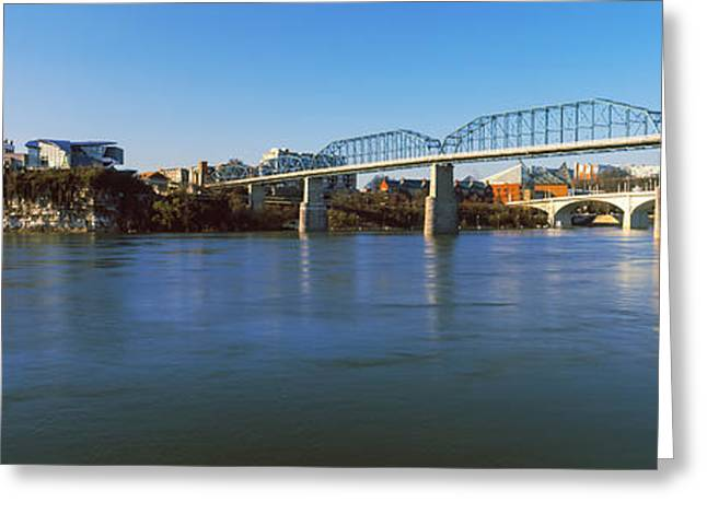 Bridge Across A River, Walnut Street Greeting Card