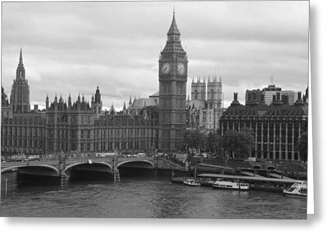 Bridge Across A River, Westminster Greeting Card by Panoramic Images