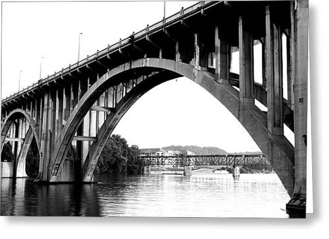 Bridge Across River, Henley Street Greeting Card by Panoramic Images