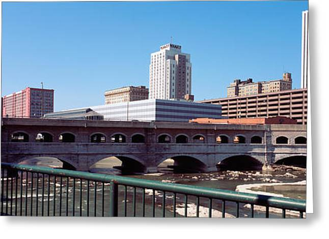 Bridge Across The Genesee River Greeting Card by Panoramic Images
