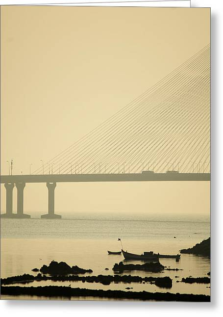 Bridge And Rocks Greeting Card