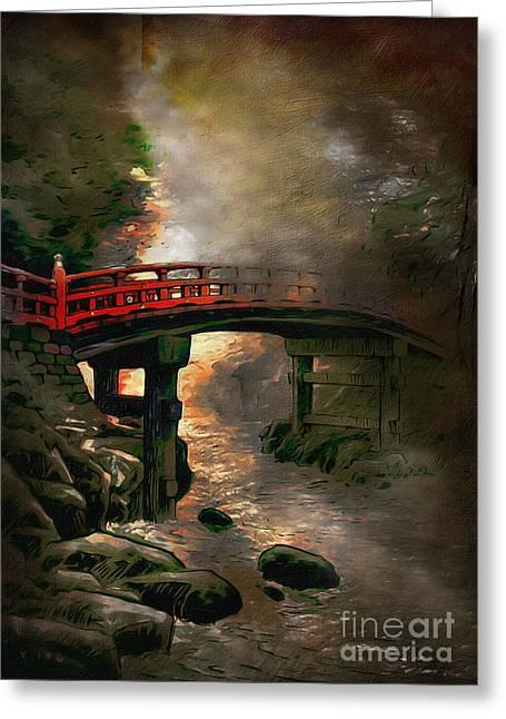 Bridge Greeting Card by Andrzej Szczerski
