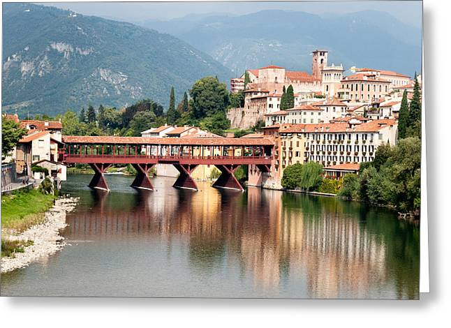 Bridge At Bassano Del Grappa Greeting Card by William Beuther