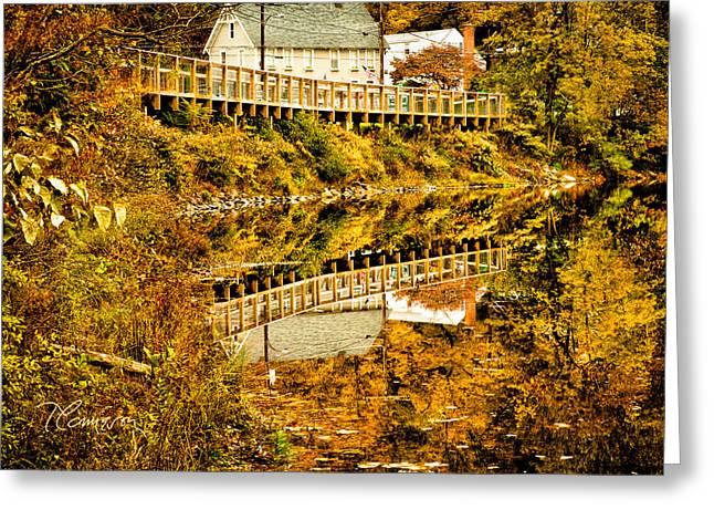 Bridge At C'ville Greeting Card