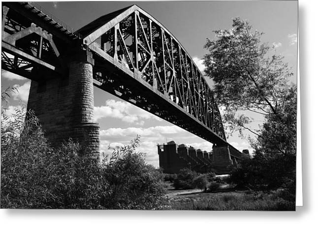 Bridge At Falls Of The Ohio Greeting Card by Chris Fender