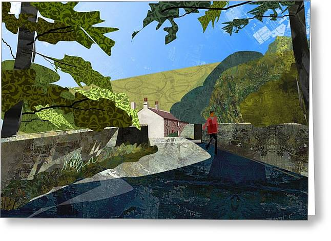 Bridge At Froggatt Greeting Card by Kenneth North