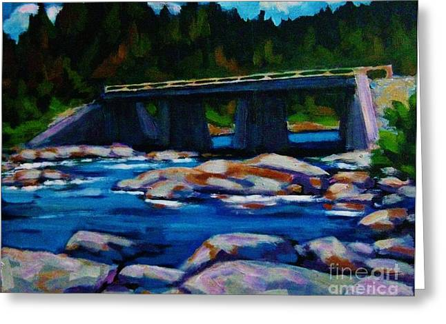 Bridge At Liscomb Nova Scotia Greeting Card