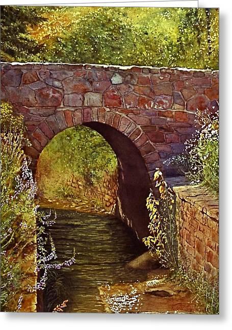 Bridge At Manitou Springs Greeting Card
