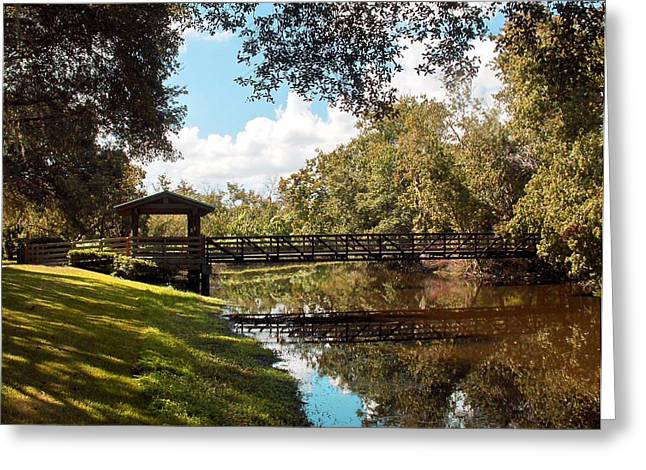 Bridge At Sawgrass Park Greeting Card