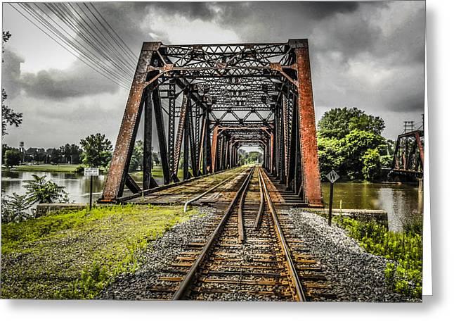 Bridge Greeting Card by Chris Smith