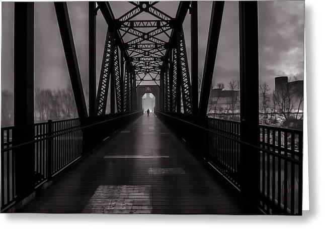 Bridge Crossing Greeting Card by Bob Orsillo