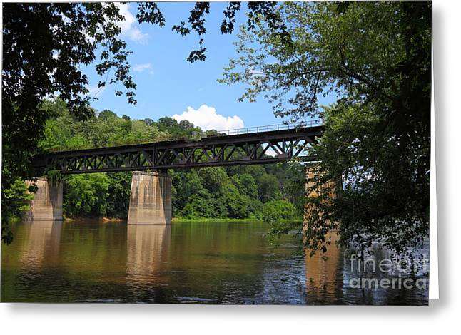 Bridge Crossing The Potomac River Greeting Card by James Brunker