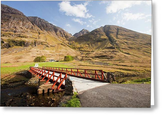 Bridge Crossing The River Coe Greeting Card by Ashley Cooper
