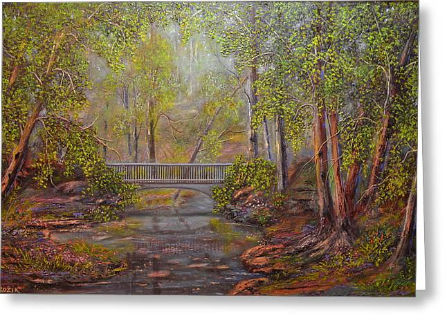 Bridge From The Past  Greeting Card