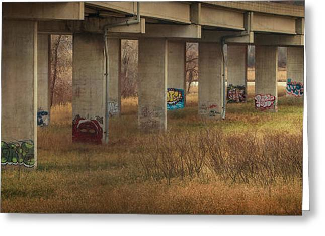 Greeting Card featuring the photograph Bridge Graffiti by Patti Deters