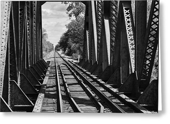Bridge In Black And White Greeting Card