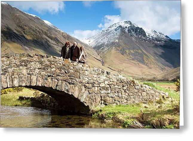 Bridge In Lake District Cumbria England Greeting Card