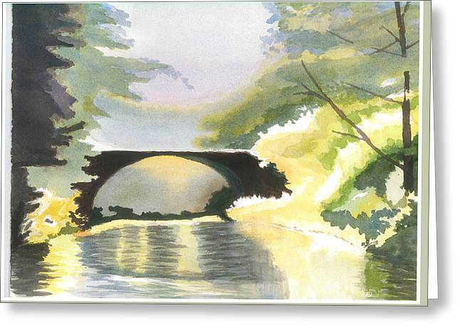 Bridge In Shadows Greeting Card