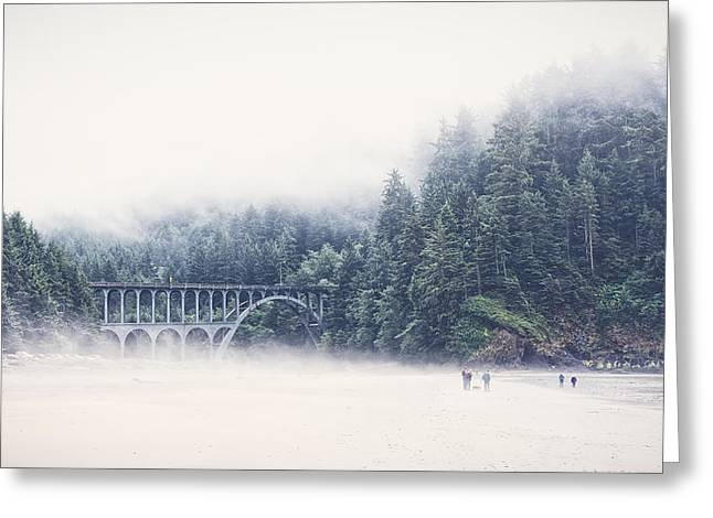 Bridge In The Mist  Greeting Card