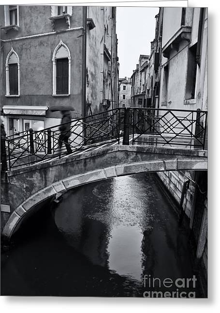 Bridge In Venice 3 Greeting Card by Design Remix