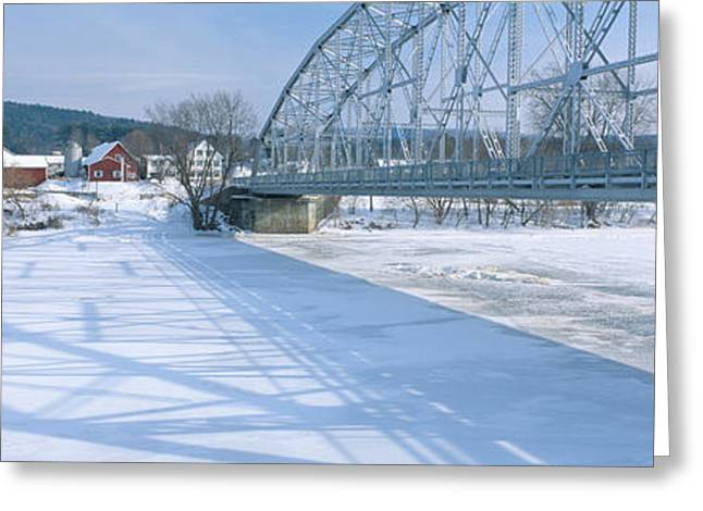Bridge Into New Hampshire From Vermont Greeting Card by Panoramic Images