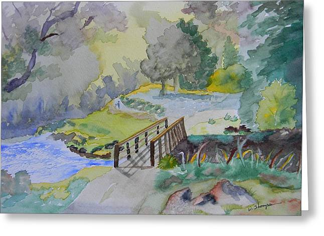 Bridge Near Enniskerry Ireland  Greeting Card