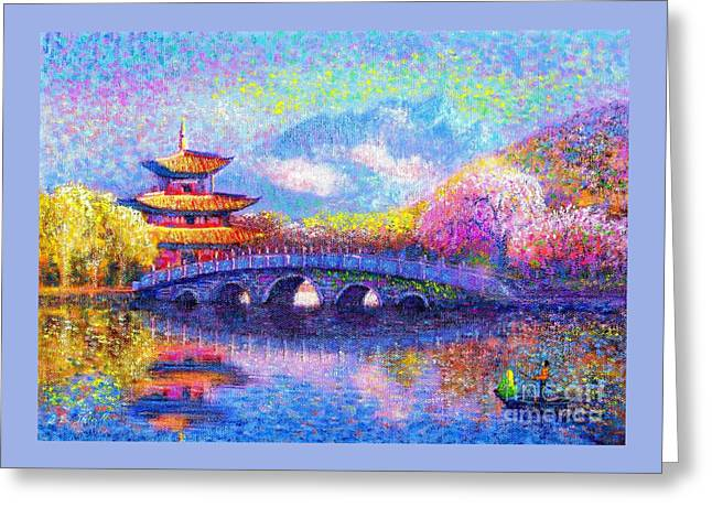 Bridge Of Dreams Greeting Card by Jane Small