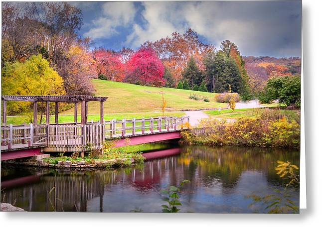 Bridge Of Dreams Greeting Card by Mary Timman