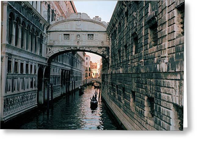 Bridge On A Canal, Bridge Of Sighs Greeting Card