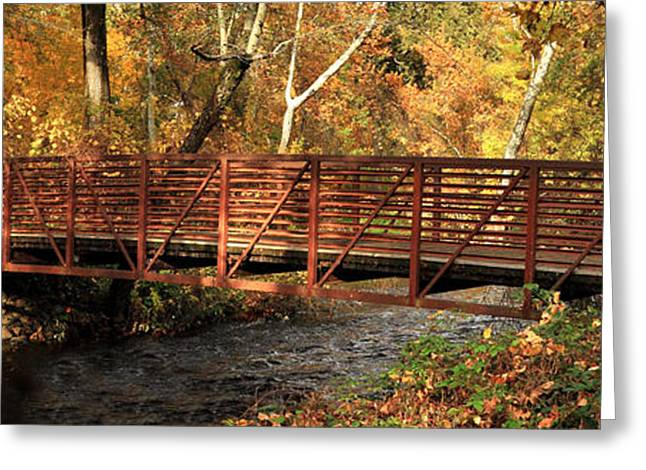 Bridge On Big Chico Creek Greeting Card by James Eddy