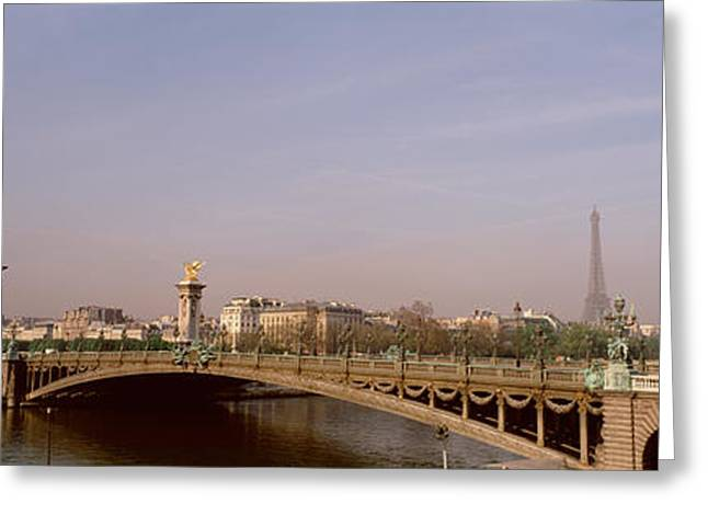 Bridge Over A River, Alexandre IIi Greeting Card by Panoramic Images