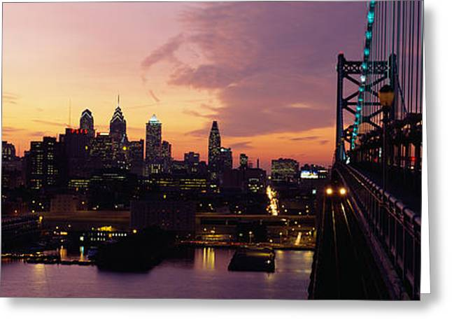 Bridge Over A River, Benjamin Franklin Greeting Card by Panoramic Images