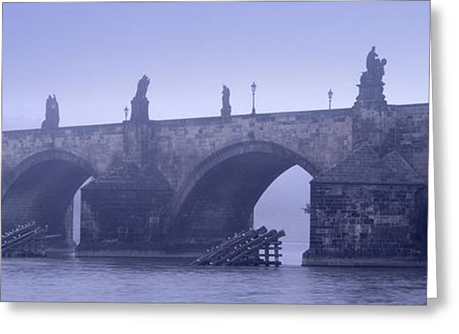 Bridge Over A River, Charles Bridge Greeting Card by Panoramic Images