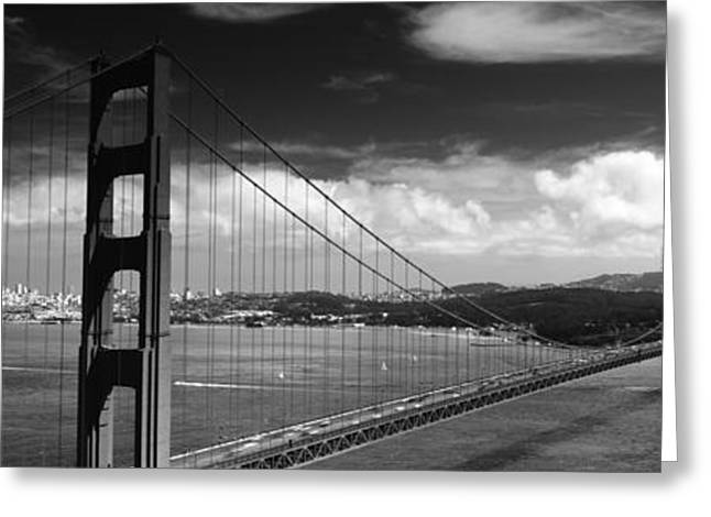 Bridge Over A River, Golden Gate Greeting Card
