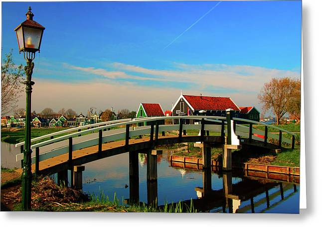 Greeting Card featuring the photograph Bridge Over Calm Waters by Jonah  Anderson
