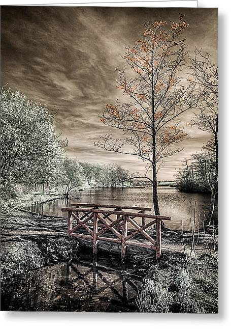 Bridge Over Calm Waters Greeting Card