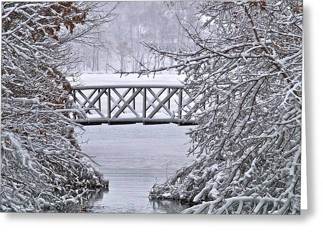 Bridge Over Clear Water Greeting Card