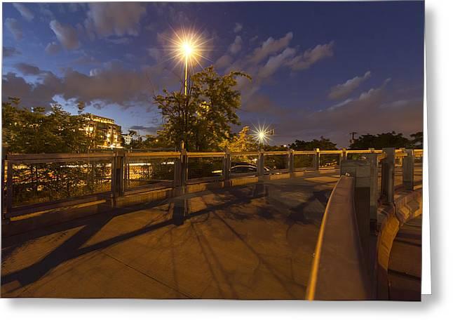 Bridge Over Denver Greeting Card by Stellina Giannitsi