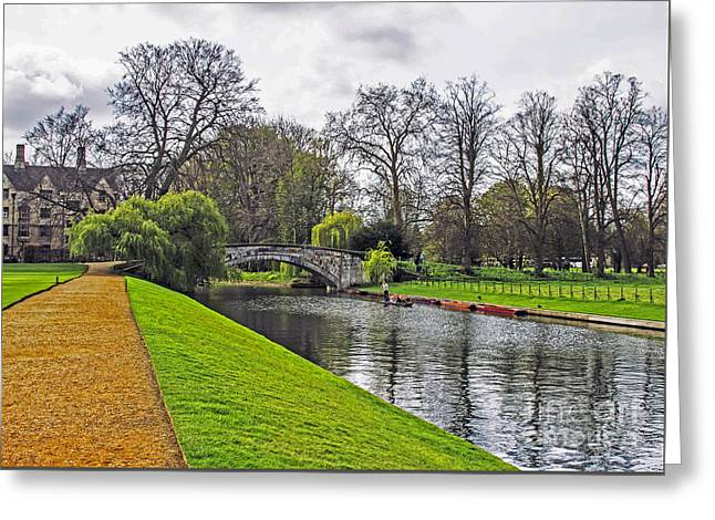 Bridge Over River Cam Greeting Card