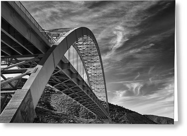 Bridge Over Roosevelt Lake Greeting Card by Jesse Castellano
