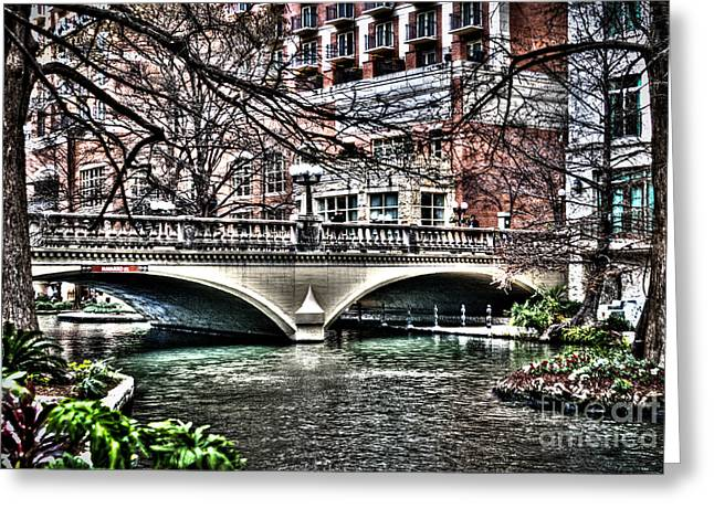 Greeting Card featuring the photograph Bridge Over San Antonio River by Deborah Klubertanz