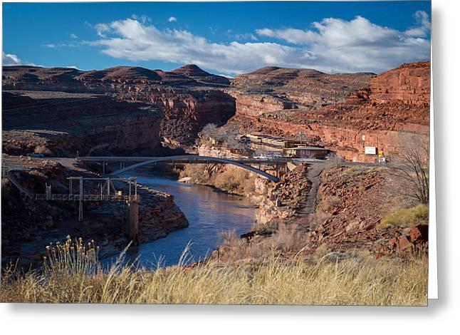 Bridge Over San Juan River Greeting Card by Michael J Bauer