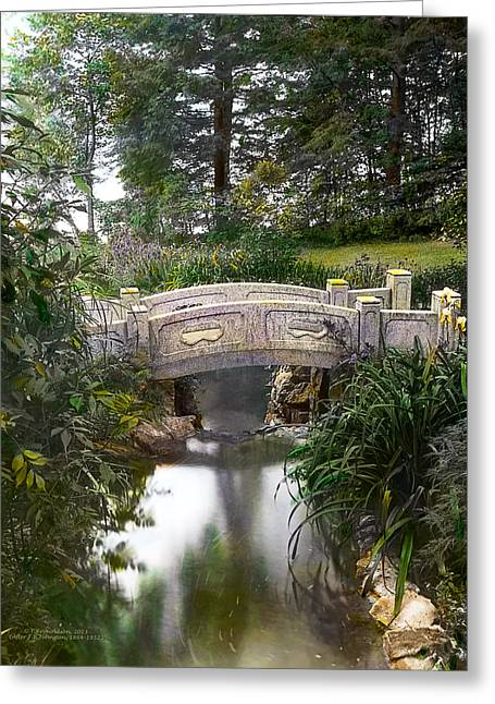 Bridge Over Stream Greeting Card