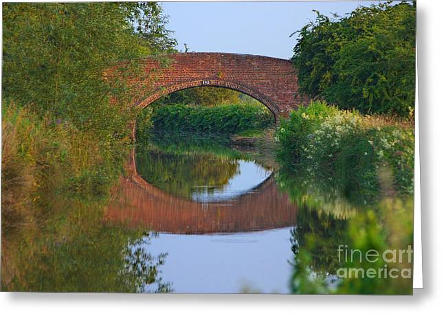 Greeting Card featuring the photograph Bridge Over The Canal by Jeremy Hayden