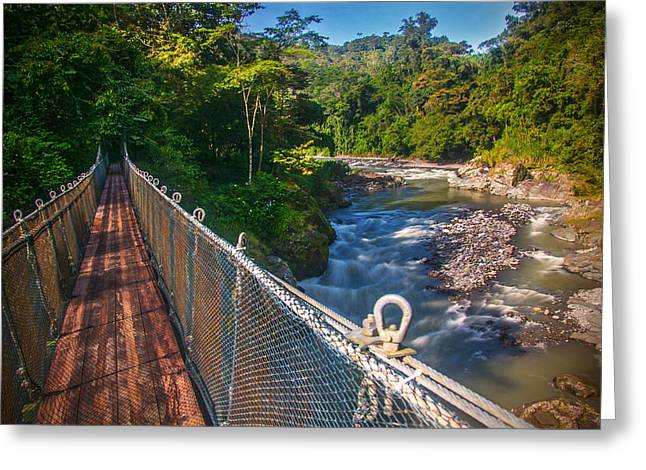 Bridge Over The Pacuare Greeting Card