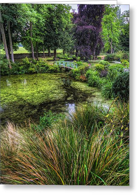 Bridge Over The Pond Greeting Card by Ian Mitchell
