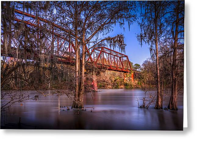 Bridge Over Trouble Water Greeting Card by Marvin Spates