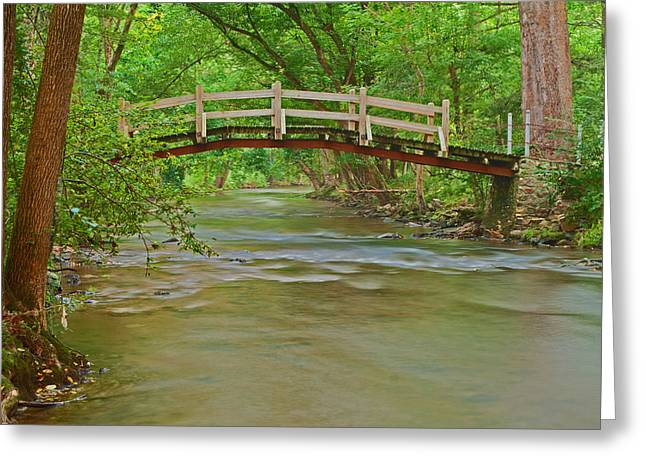 Bridge Over Valley Creek Greeting Card